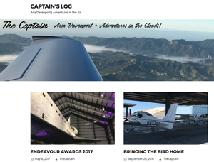 The Captain · Adventures in the clouds with Aria Davenport · Captain's Log