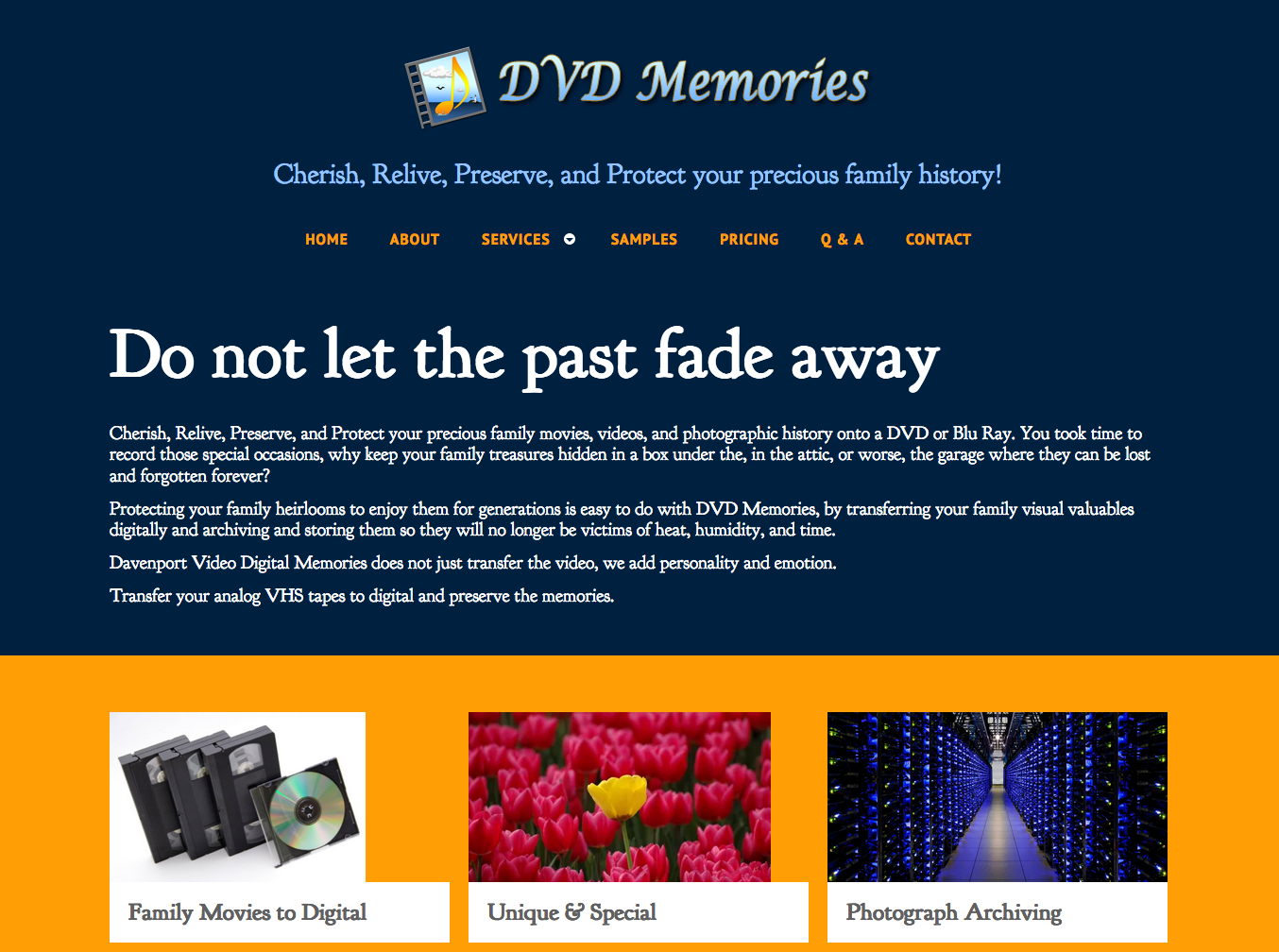DVD Memories. Preserve and Protect your family photographic history